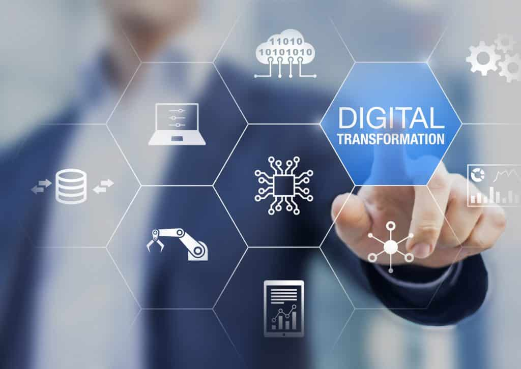 Digital transformation technology strategy, digitization and digitalization of business processes and data, optimize and automate operations, customer service management