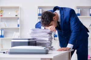 frustration over too many papers