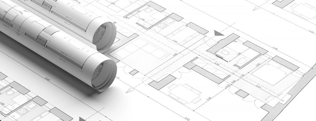 Residential building blueprint plans